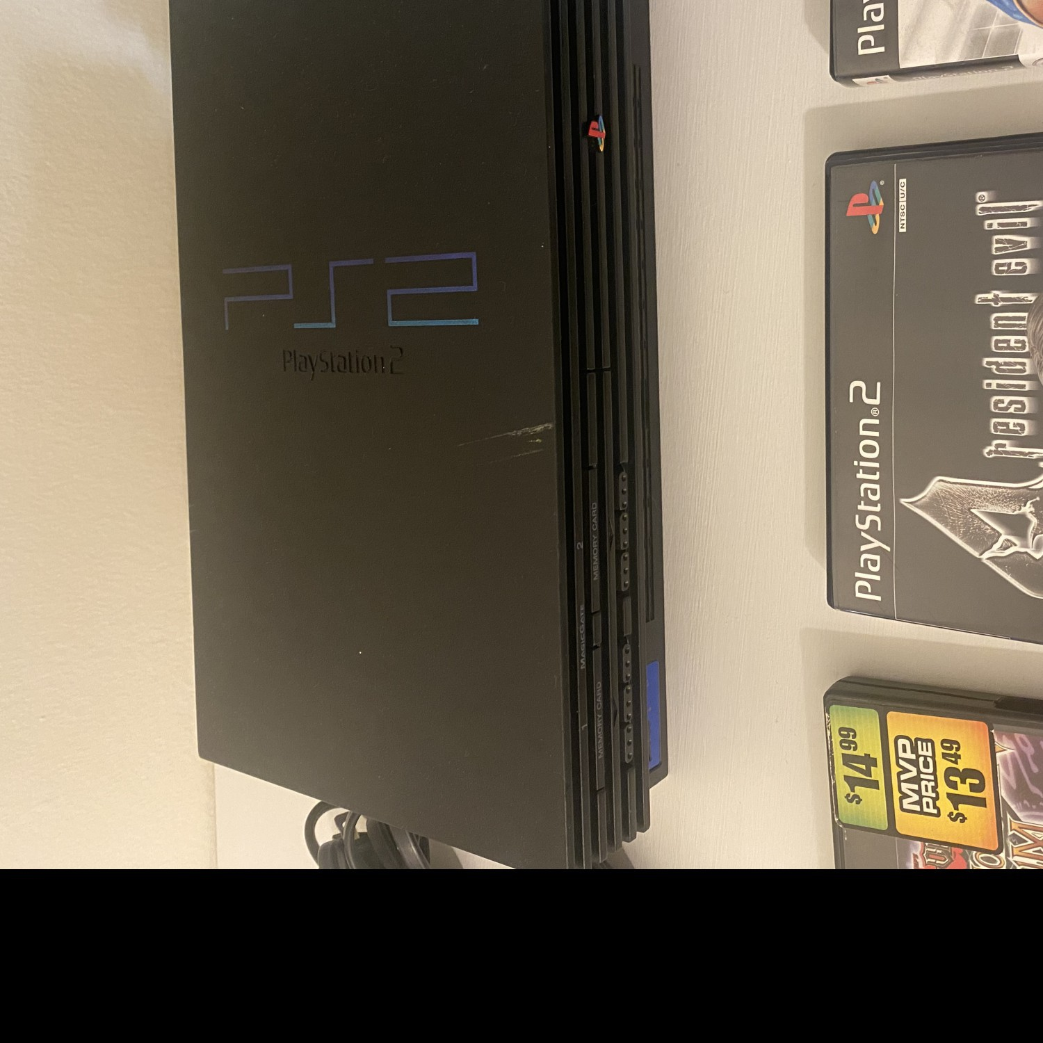 Sony PlayStation 2 PS2 - Fat Black Home Console + one controller + 3 Games