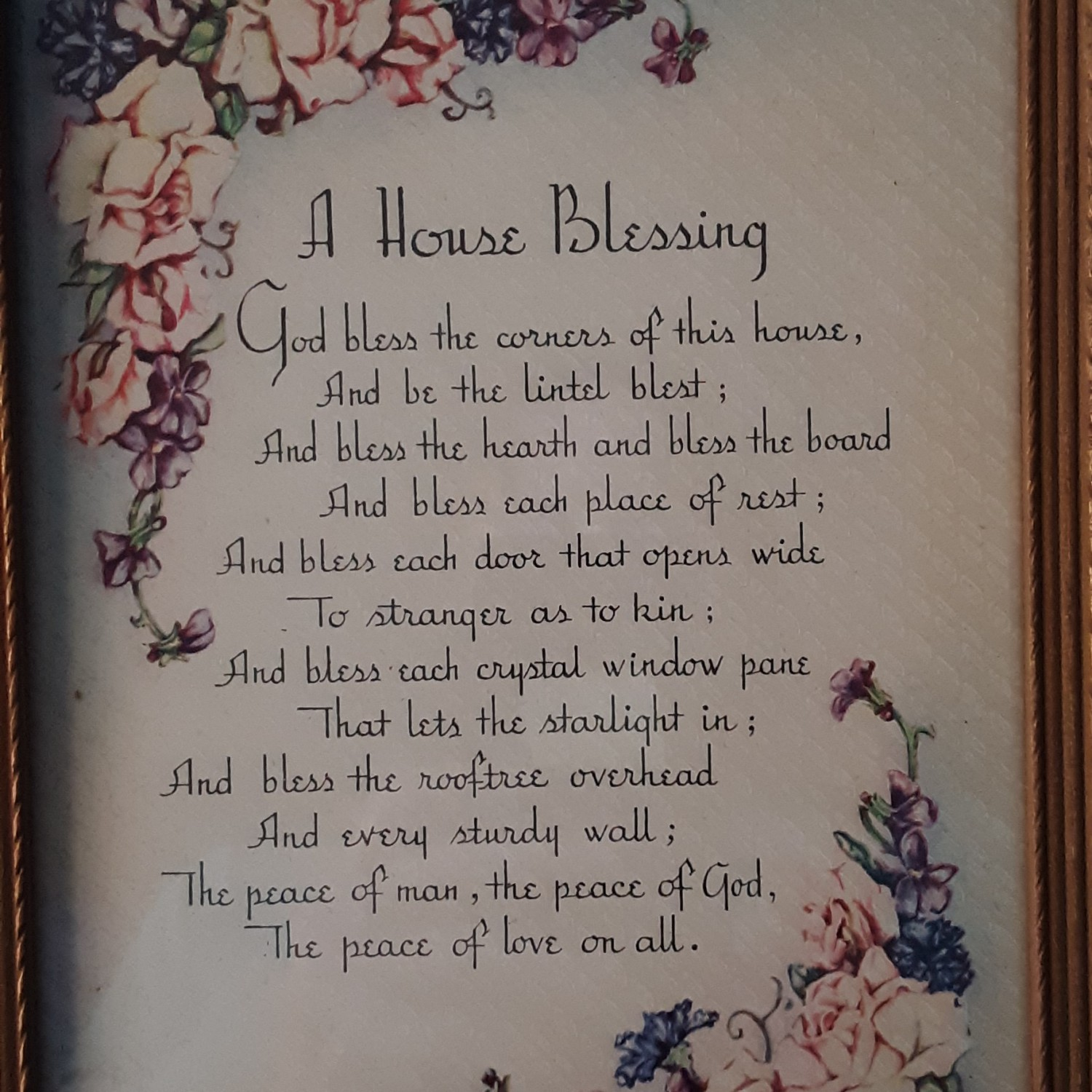 """""""A House Blessing"""" Cottage Motto Print"""