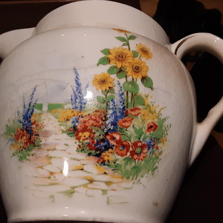 Floral Ceramic Pitcher