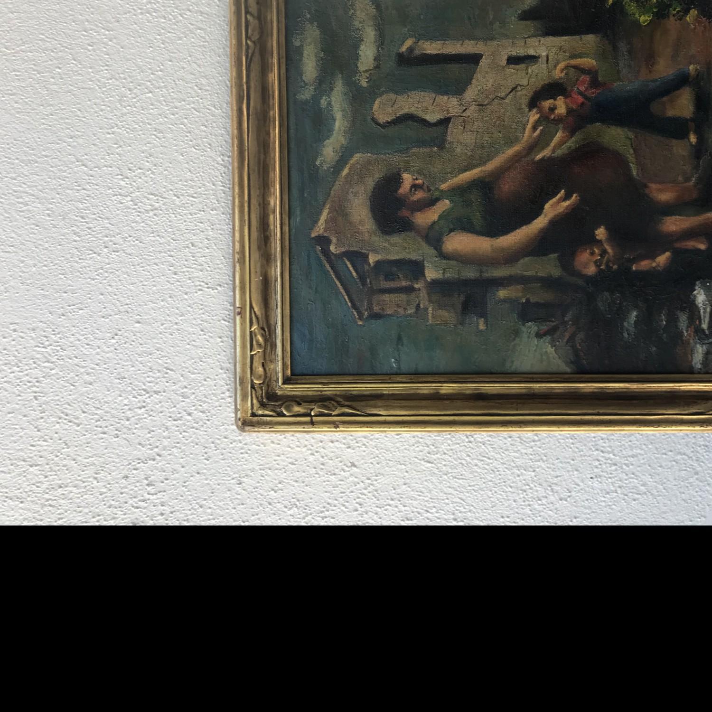 Rube Atkins painting