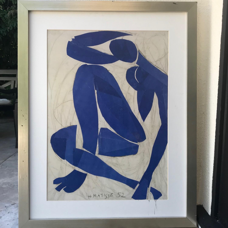 Mattise Nu Bleu IV print in frame