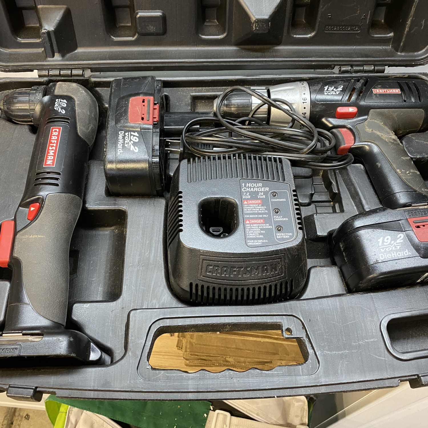 Battery powered drill set of two
