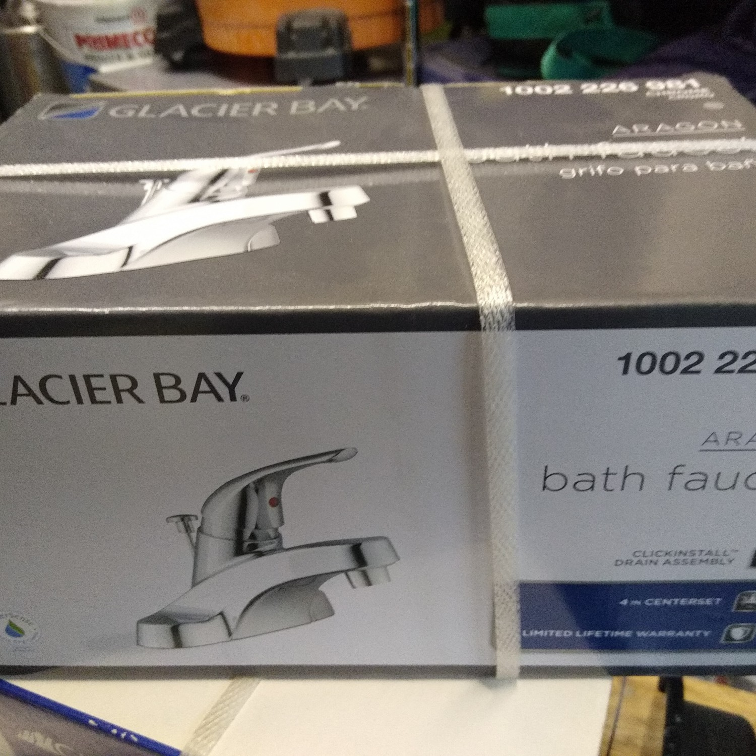 2 Bathroom faucets. Brand new in box.