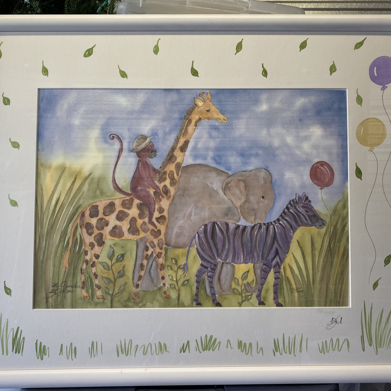 Noah's Ark Nursery Playroom Art
