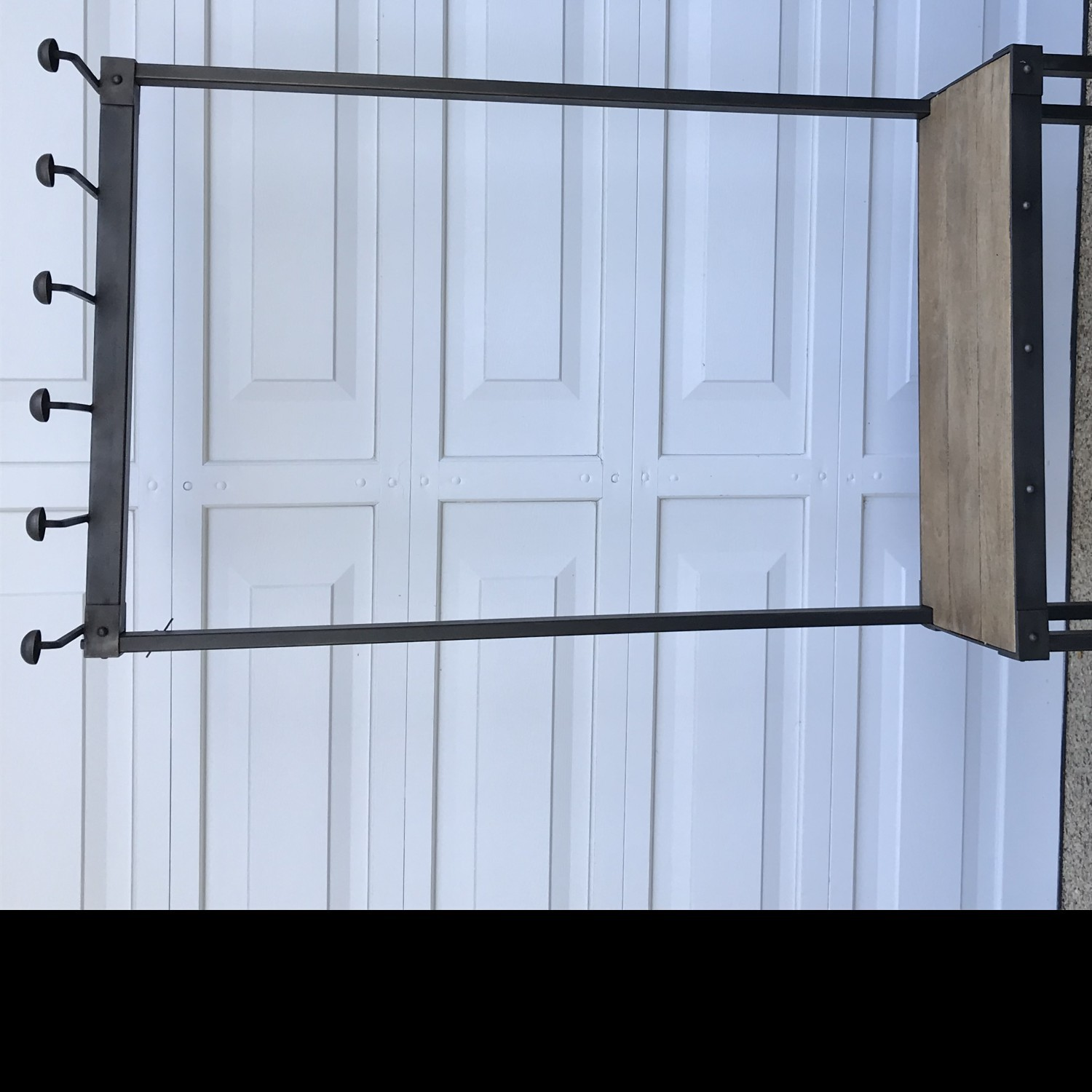 POTTERY BARN ENTRY BENCH WITH CLOTHES HOOKS