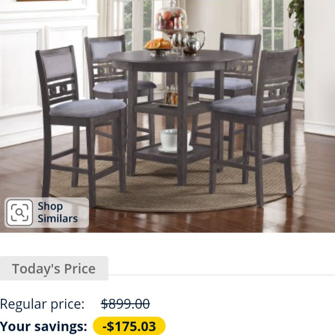 5Pc. COUNTER HEIGHT DINING SET - NEW