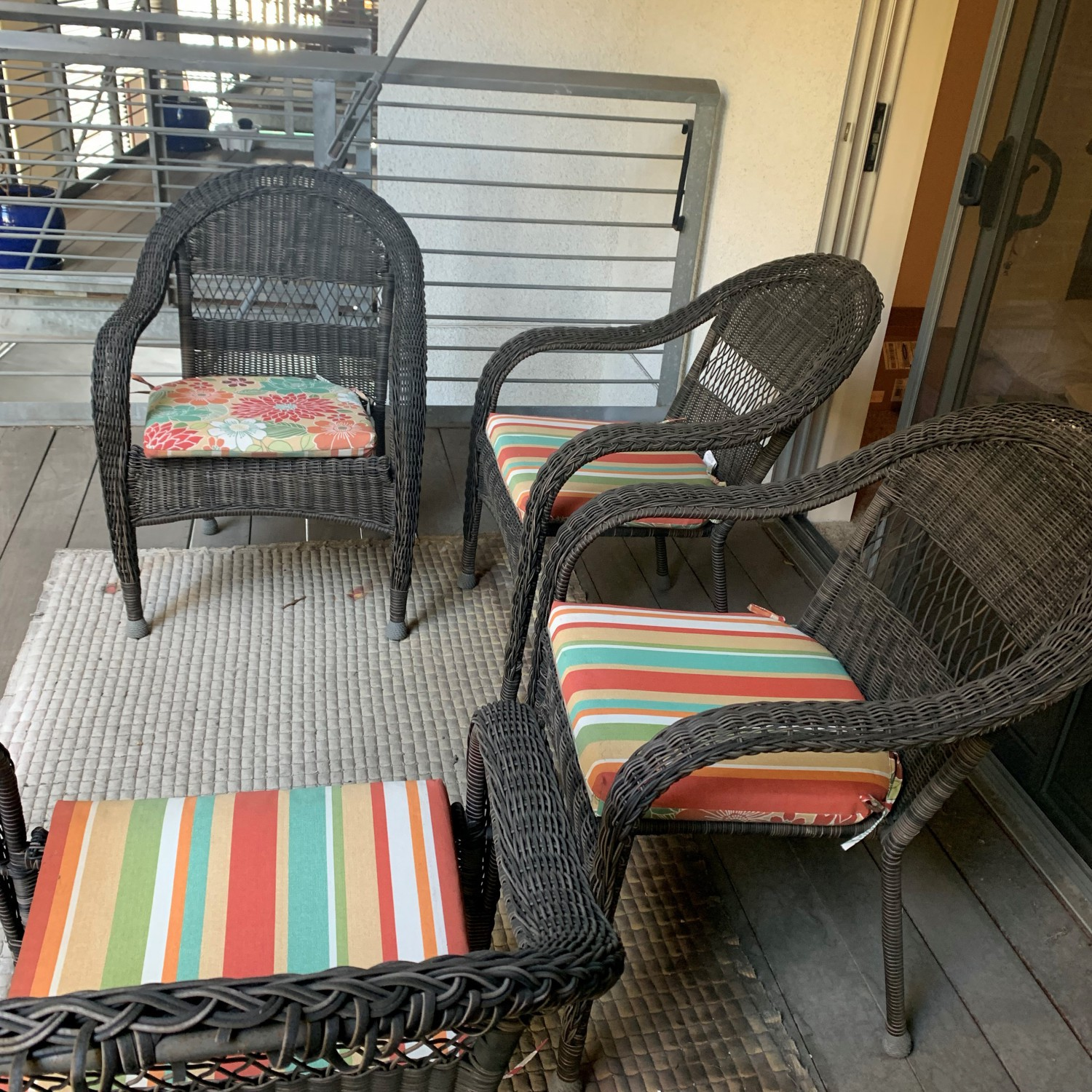 Wicker Outdoor Patio Chairs (set of 4)