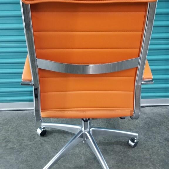 Orange Rolling Chair